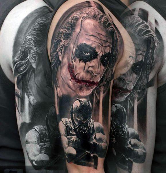 Joker And Bane Tattoo Tattoos Gaming Tattoo Tatuaże I