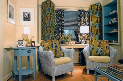 African Prints On Pillows Curtains Blinds African