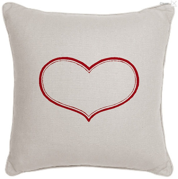 Red heart image cushion cover by LucyLocketsCrafts on Etsy, $30.00