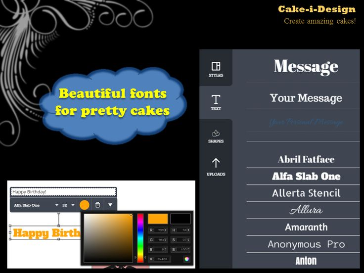 Add custom fonts and type out your message to get the perfect one!