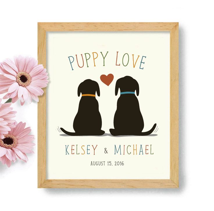 Puppy Love, Dogs in Wedding, Personalized Wedding Gift, Dog Decor, Gift for Couple, Loves Dogs, Labrador Retriever, Unique Engagement Gift by DexMex on Etsy https://www.etsy.com/listing/456081390/puppy-love-dogs-in-wedding-personalized