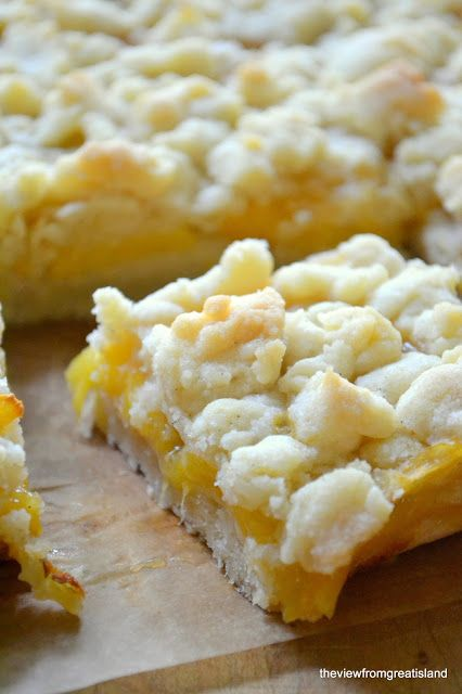 Jack Daniel's Peach Pie Bars: Note- another alcohol like amaretto could be substituted to change the flavor