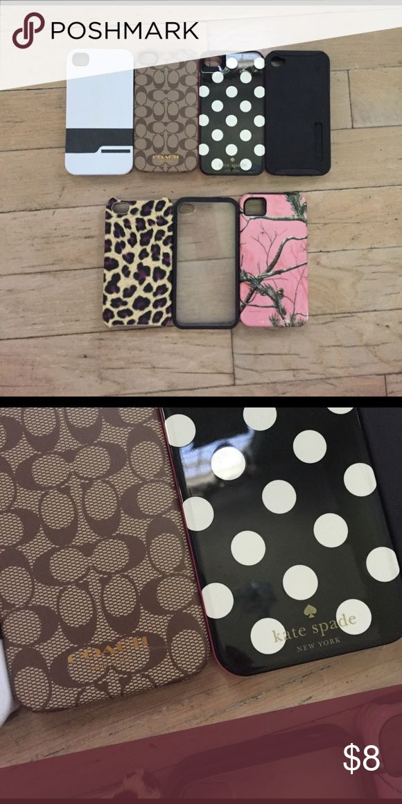 iPhone 4 Case Bundle Looking to get these out of my closet! Includes designer cases such as coach and Kate spade. Willing to separate if needed but I would like to just get rid of them. Accessories Phone Cases