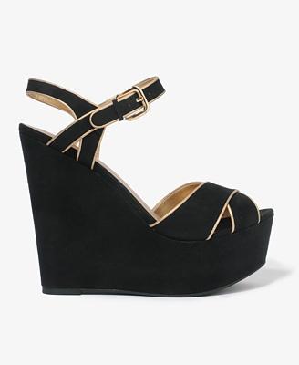 metallic trim from f21: Fashion, Style, Shoess, Trim Platform, Things, Forever21, Platform Sandals