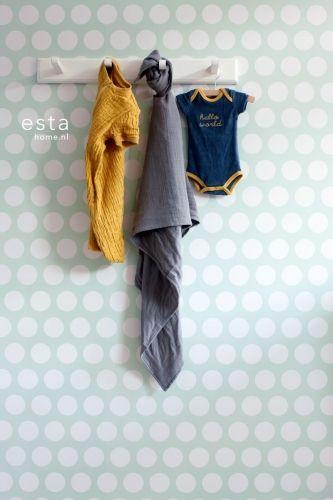 Behang Dots mint? De leukste Behang voor de kinderkamer bij Saartje Prum.