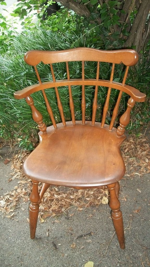 Ethan Allen Signed Windsor Style Maple Finish Chair