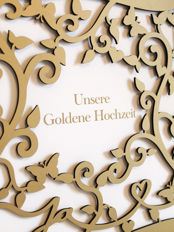 Wedding album with delicate laser cut Cover, Coppenrath Verlag