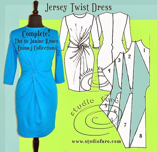 JERSEY TWIST DRESS - Sampled!