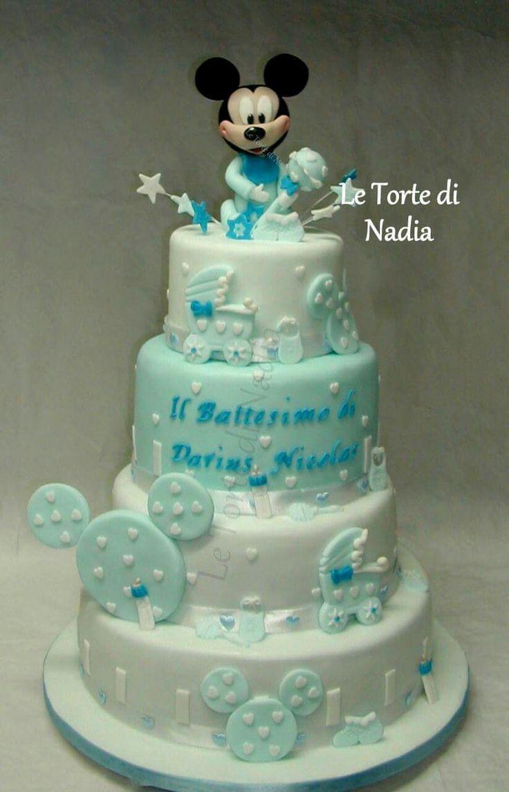 "Torta ""Battesimo""  Info: 389 9355816 anche WhatsApp #tortabattesimo #babyshowercake #torteartistiche #torte #cakes #tortebambini #tortatopolino"