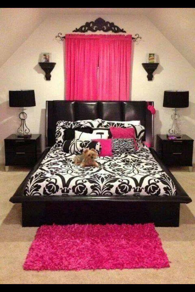 Pink And Black Bedroom Designs Delectable 11 Best Pink & Black Bedrooms Images On Pinterest  Bedroom Boys Design Inspiration