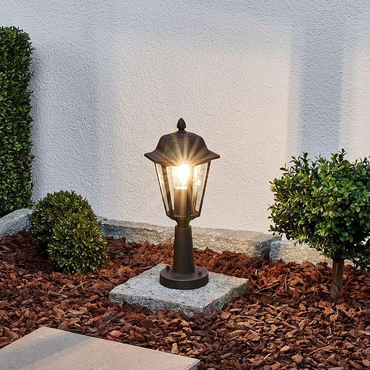 LAMINA – lampa na cokół, czarno-rdzawa 9630057