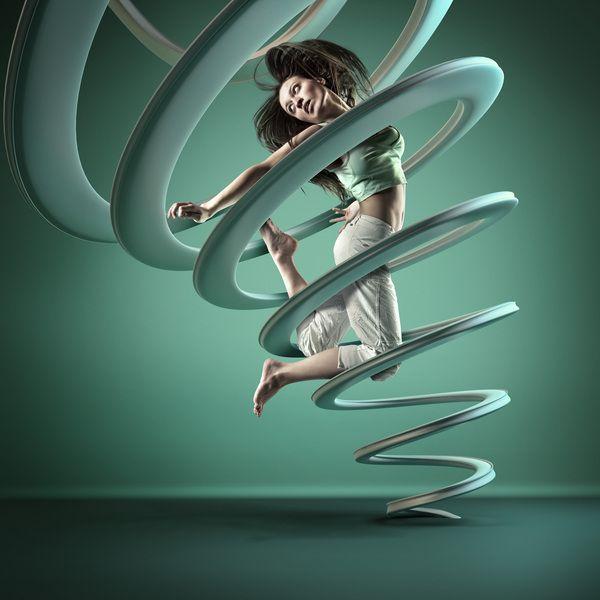 Bewegende kunstfoto van Mike Campau