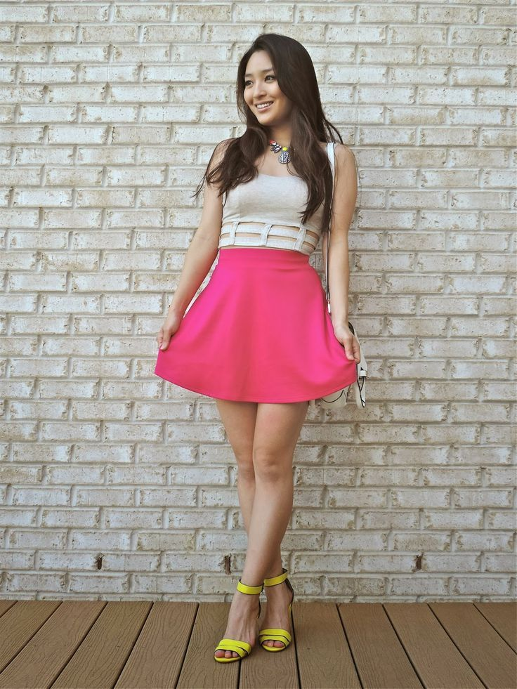 25 best ideas about pink skater skirt on