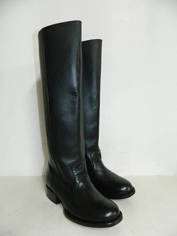 be8b0eaaf 18 inch tall roper boots with back zipper and leather soles men size 9 us  in stock