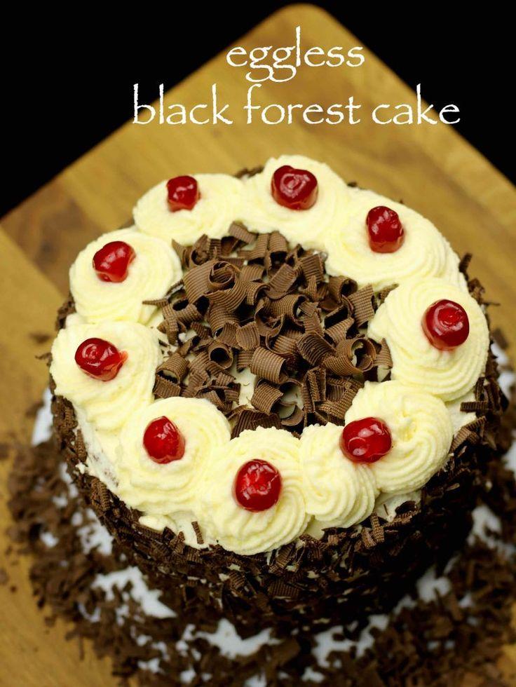 Black Forest Eggless Cake Easy  Step Recipe