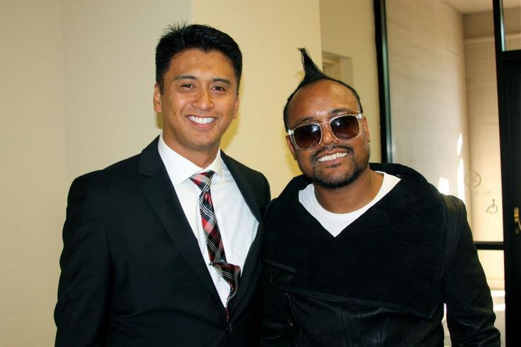 VuQo Founder and CEO Rich Cabael with Black Eyed Peas' Apl de Ap!