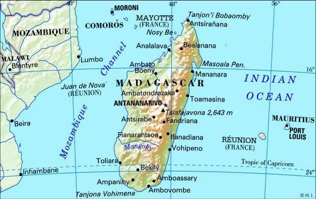 Madagascar Country | ... madagascar is 20º s 47º e the capital of madagascar is antananarivo