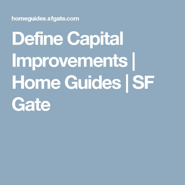 Define Capital Improvements | Home Guides | SF Gate