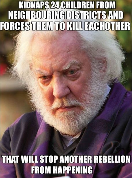Hunger Games logic...