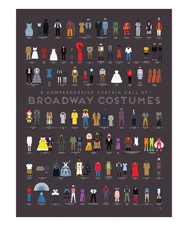 Another great find on #zulily! A Comprehensive Curtain Call of Broadway Costumes Print #zulilyfinds