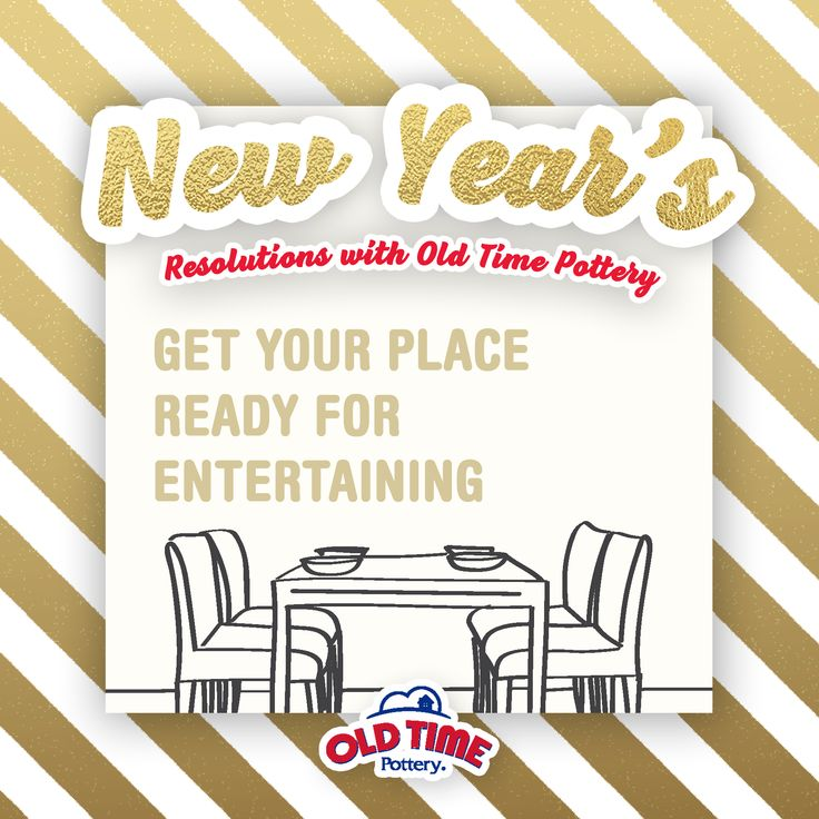 Is your 2018 resolution to entertain your guests more often? Grab a variety of glassware, flatware, table cloths, and more from your local Old Time Pottery. Share your inspirations! #myOTPstyle