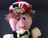 knitted Scottish Puppet, Puppet toy,  Bottle topper, handmade puppet, hand knitted puppet