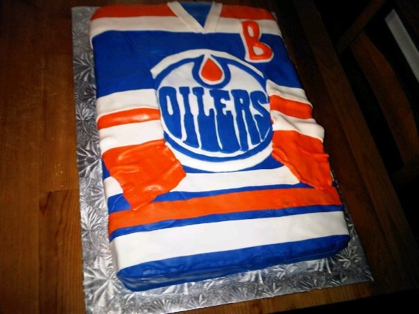 Edmonton Oilers Jersey Oilers jersey cake I made ... 6621c24f2
