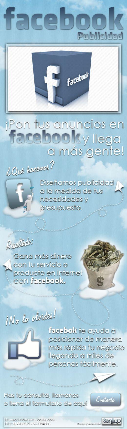 Landing page Sentidoarte.com en Facebook