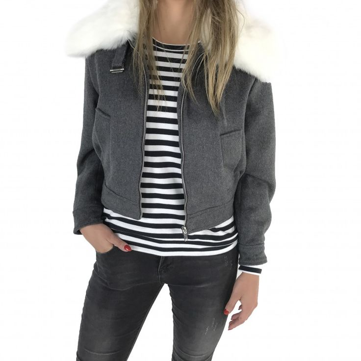 We love Winter! #fashion #webshop #gutsgusto #winter #jacket #fauxfur #new #collection #outfit #style #stripes