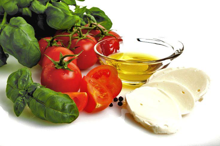 Summer Treats with Tomatoes, Basil, and Mozzarella Cheese