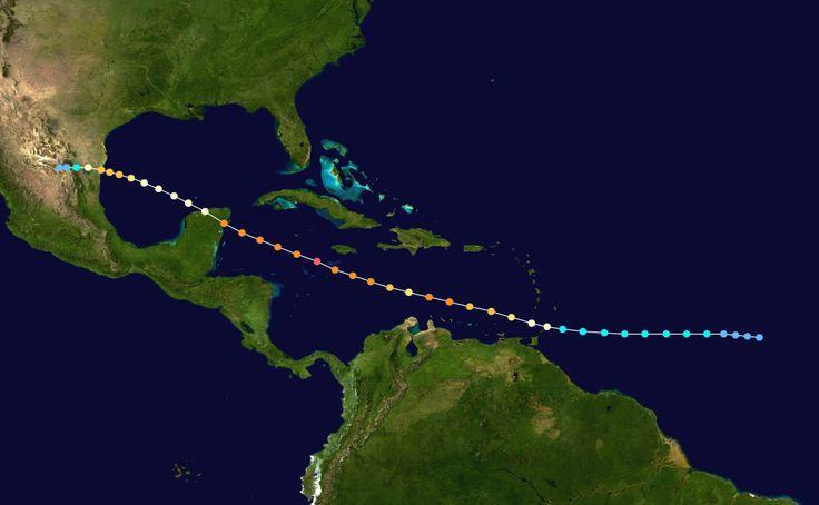 Emily 2005 track - Hurricane Emily