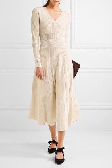 Barbara Casasola | Paneled stretch-knit midi dress | NET-A-PORTER.COM