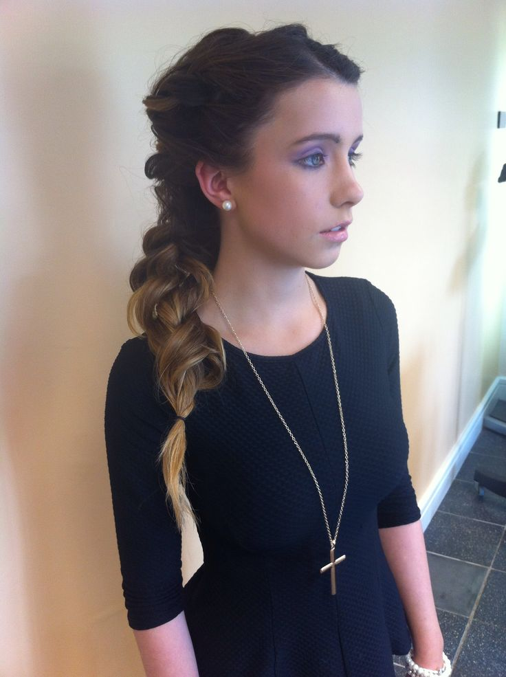 Grecian Greek style braid ponytail /long hair