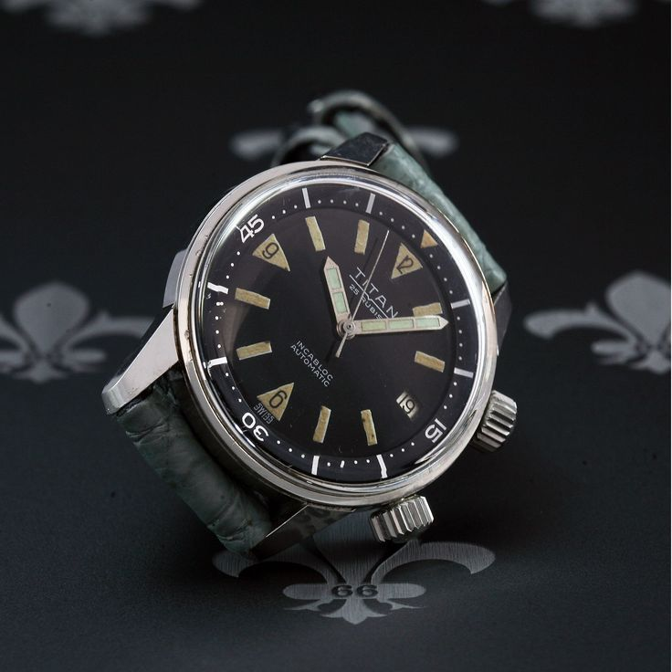 May 1964 TITAN Swiss Super Compressor Vintage Dive Watch Automatic AS Cal 1701 | eBay