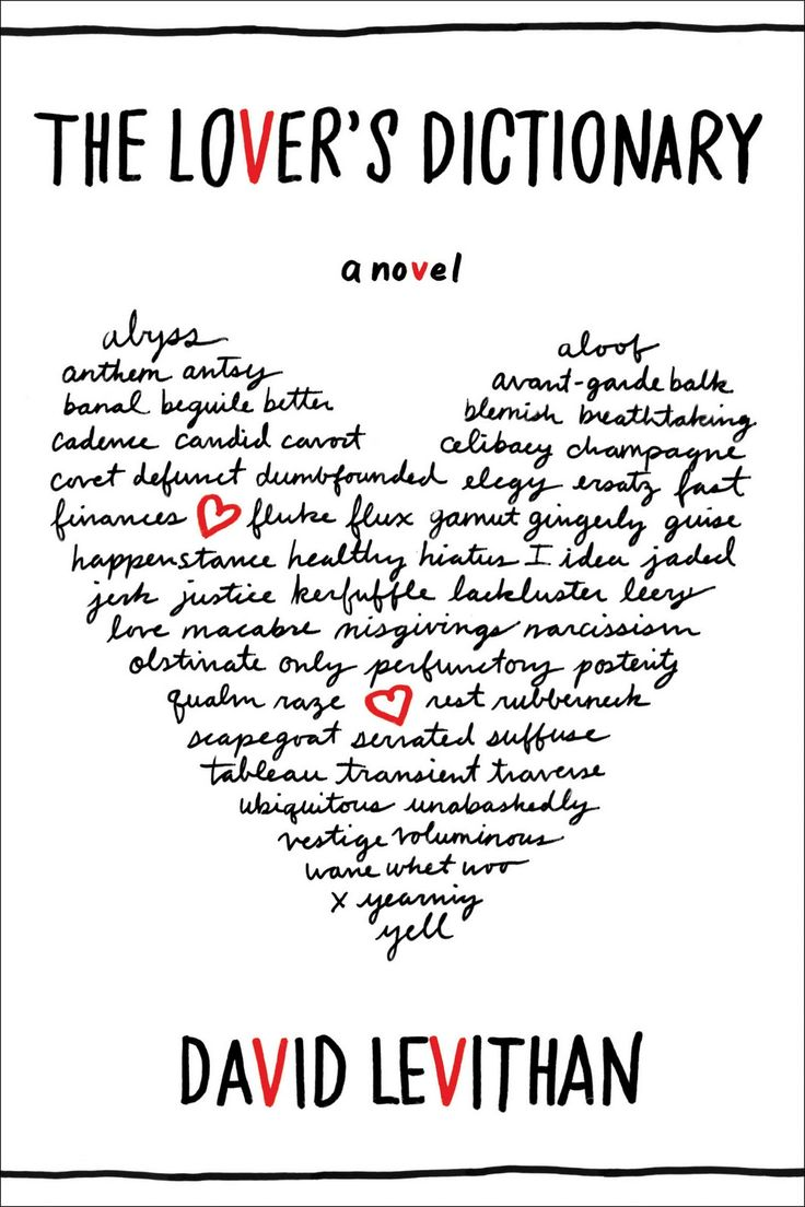 The Lover's Dictionary by David Levithan  what can I say, I'm sucker for 'star crossed lover' thing