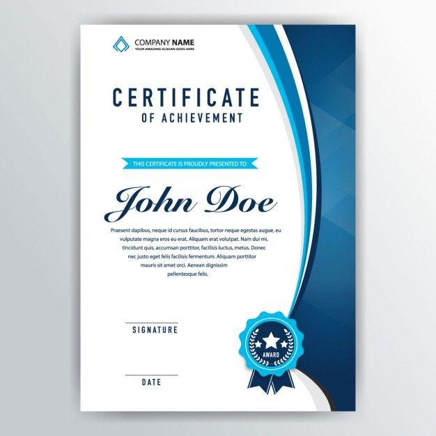 Certificado elegante de reconocimiento Vector Gratis