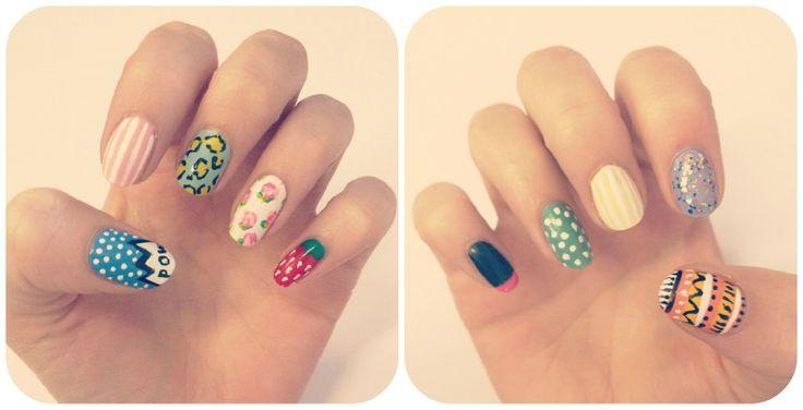 burkatron   UK fashion and nail art blog: mix and match nail art: