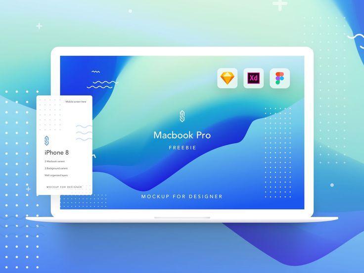 Bestfolios Mackbook Pro Mockup Xd Sketch And Figma Mockup App Design Mobile App Design