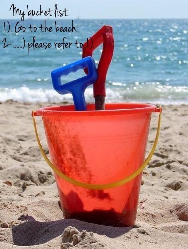 #my bucket list