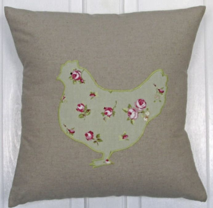 Chicken Cushion £15.00 inc. UK postage. For full details please see website www.cushionsbydesign.co.uk