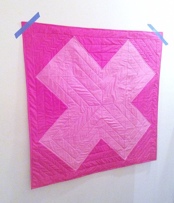 Modern Baby Quilt by LethargicLass on Etsy