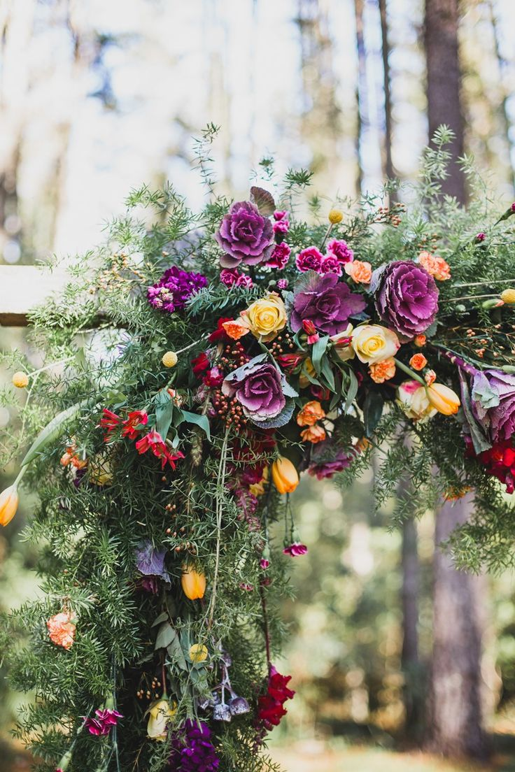 Beautiful Floral Aisle Arch