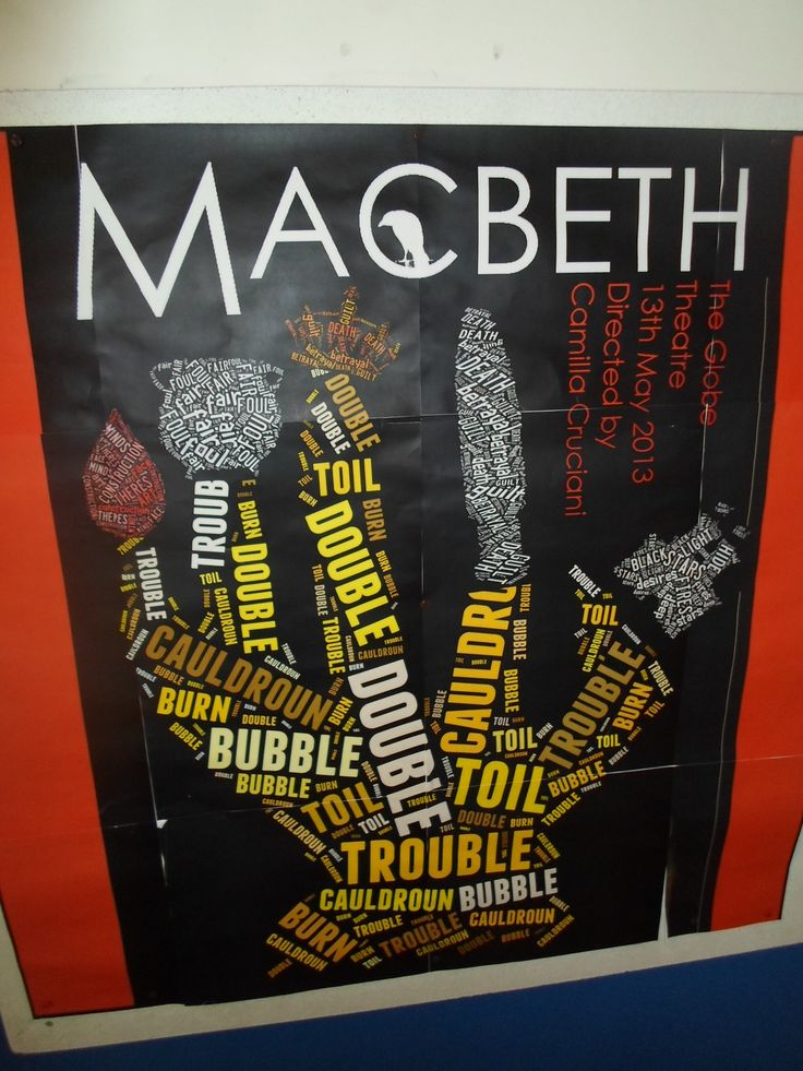 MACBETH using words of the play in the picture.