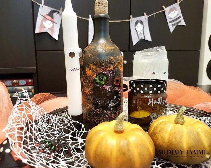 Φτιάξτε ένα διακοσμητικό μπουκάλι με decoupage για το Halloween!