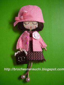 Doll brooches from Nereuchi Brooches:  Beautiful work!