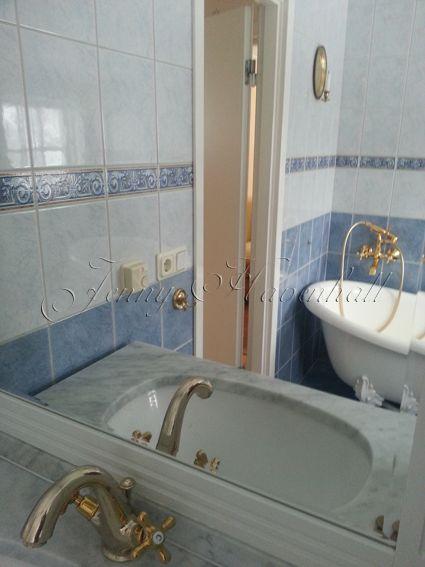 Bathroom, lion paw bathtub.
