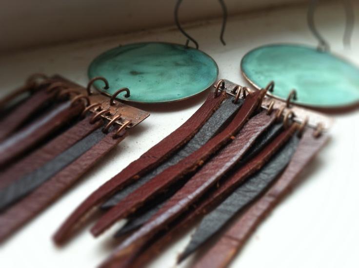 Patina & Leather Fringe by ssdjewelry