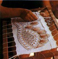 Nanduti lace traditional woven by the Guarani Indians.