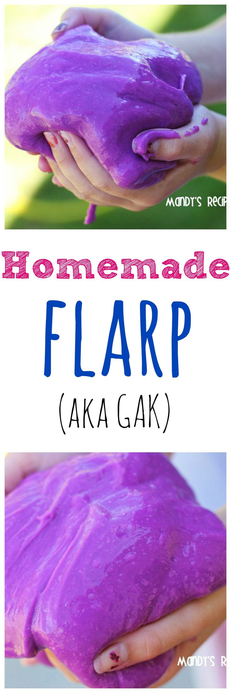 Homemade Flarp AKA Gak is such a fun activity for the kids. It's fun to play with and even more fun to make. | mandysrecipeboxblog.com
