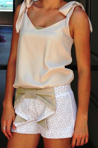 Judith March: Heidi Shorts, Ivory/Gold. Like the shorts more than the shirt